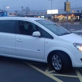 Our MPV at the airport for an airport transfer