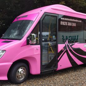 8 seat pink party bus